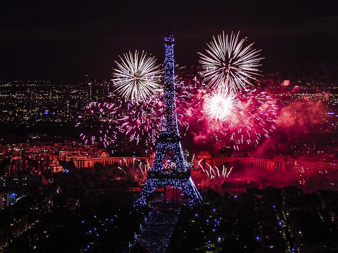 Fogos, Torre Eiffel